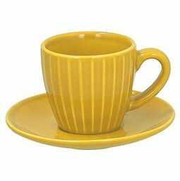 Tognana Porcellane Zestaw 6 filiżanek do kawy i Sau CC 90 Djerba  filiżanki i mugs (kawa, zestaw, 0,09 l, żółty, ceramic, Round)