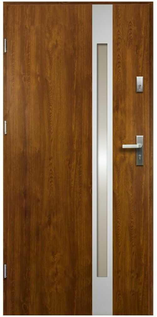 Drzwi zewnętrzne stalowe Temidas Złoty Dąb 90 Lewe
