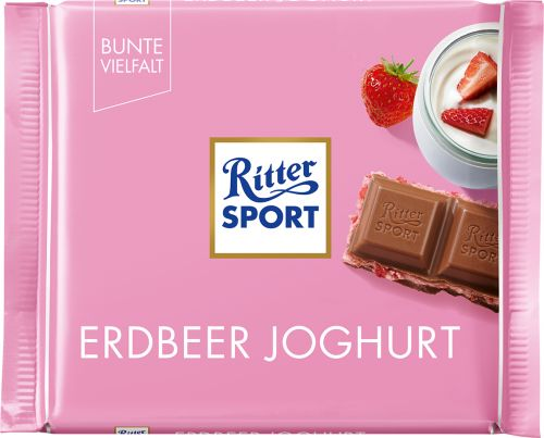 Czekolada Ritter Sport Erdbeer joghurt 100g
