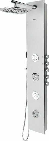 5SIDE Panel prysznicowy z baterią 155x25 cm, aluminium 80211