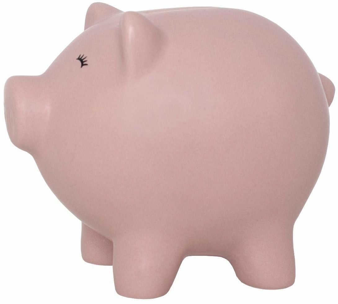 Jabadabado Ceramiczna skarbonka świnka różowa