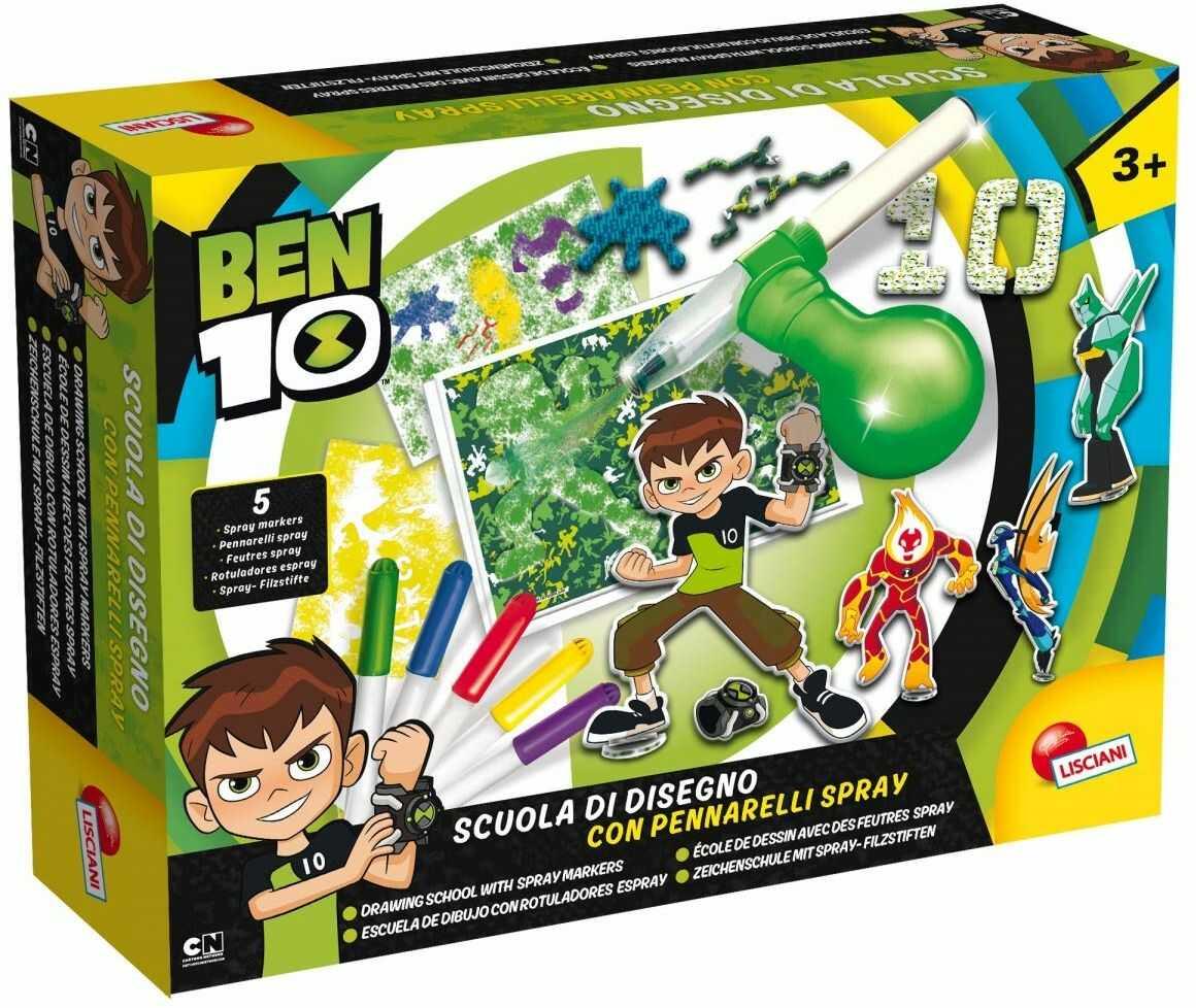 Lisciani spiele 66001.0  Ben 10 szkoły z markerami w sprayu