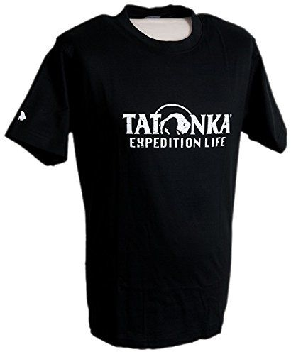 Tatonka męska bawełniana koszulka stemplowana, czarna, L, P064
