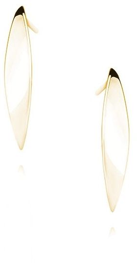 Pozłacane srebrne kolczyki celebrytki gładkie łezki krople markizy srebro 925 Z1499E_G