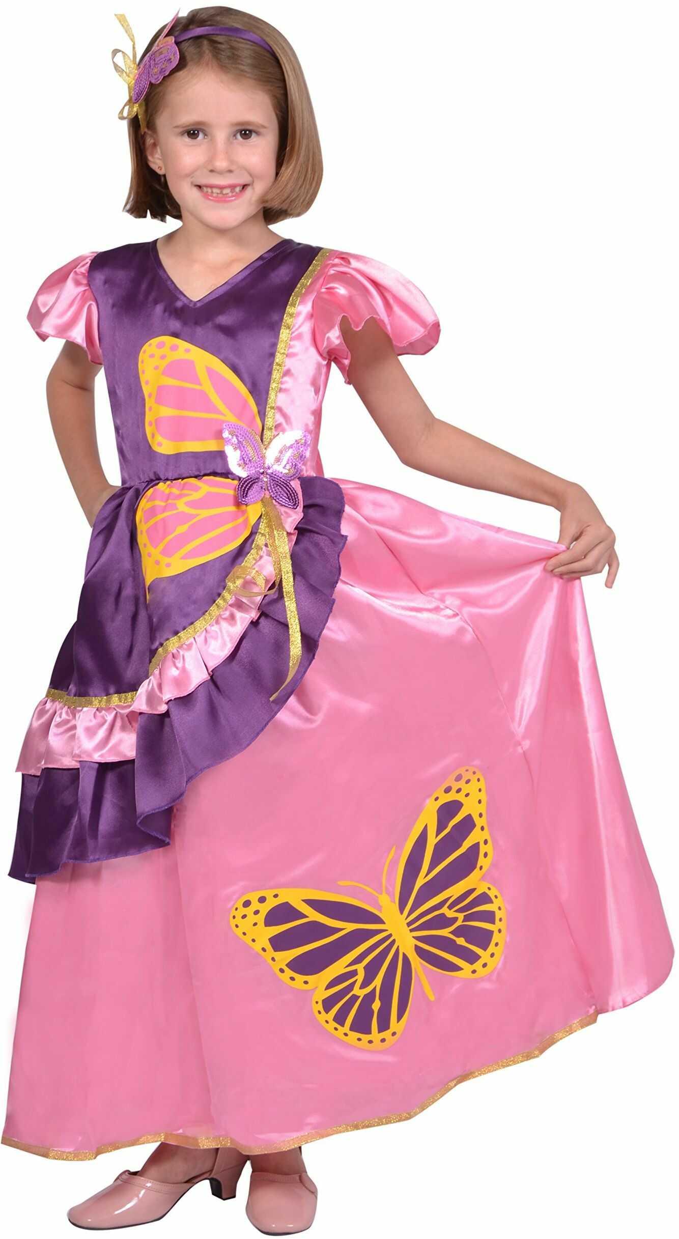 Cesar - F276  kostium księżniczki dla dzieci  motyl