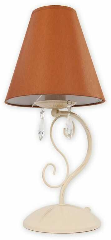 Velio Abażur lampka stołowa 1 pł. / antyczna biel + brąz