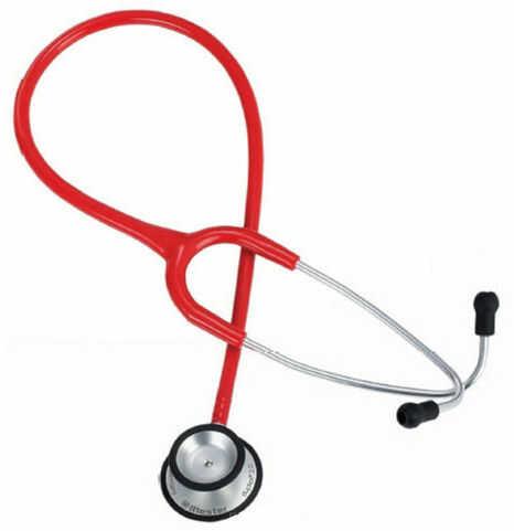 Riester Duplex 2.0 z głowicą ze stali nierdzewnej-czerwony Stetoskop o dwustronnej głowicy posiadający doskonałe parametry odsłuchowe