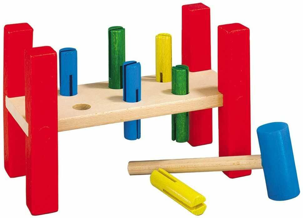 Heros 100027072 - drewniana ławka do popychania 21,5 x 11 x 14 cm