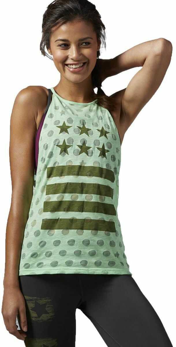 Reebok damska koszulka bez rękawów Yoga Star Tank, Seafoam Green, S