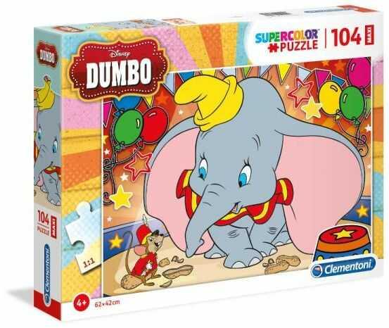 Clementoni Puzzle 104el MAXI SUPER KOLOR Dumbo 23728 p6 (23728 CLEMENTONI)