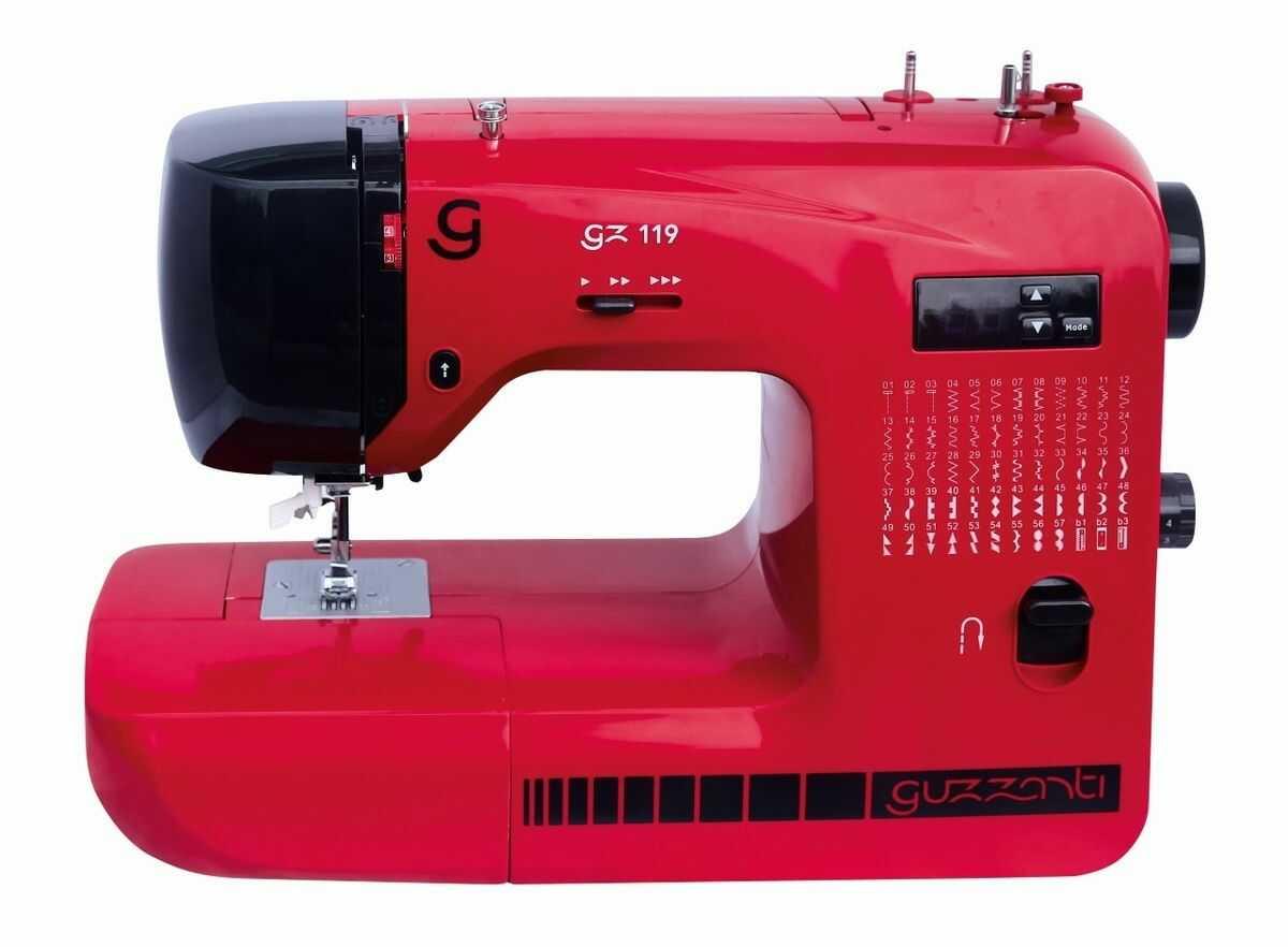 Guzzanti GZ 119 maszyna do szycia, czerwony