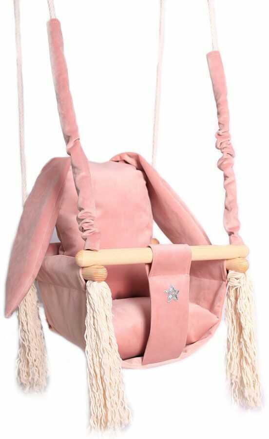 Różowa huśtawka królik dla dziewczynki - Delia