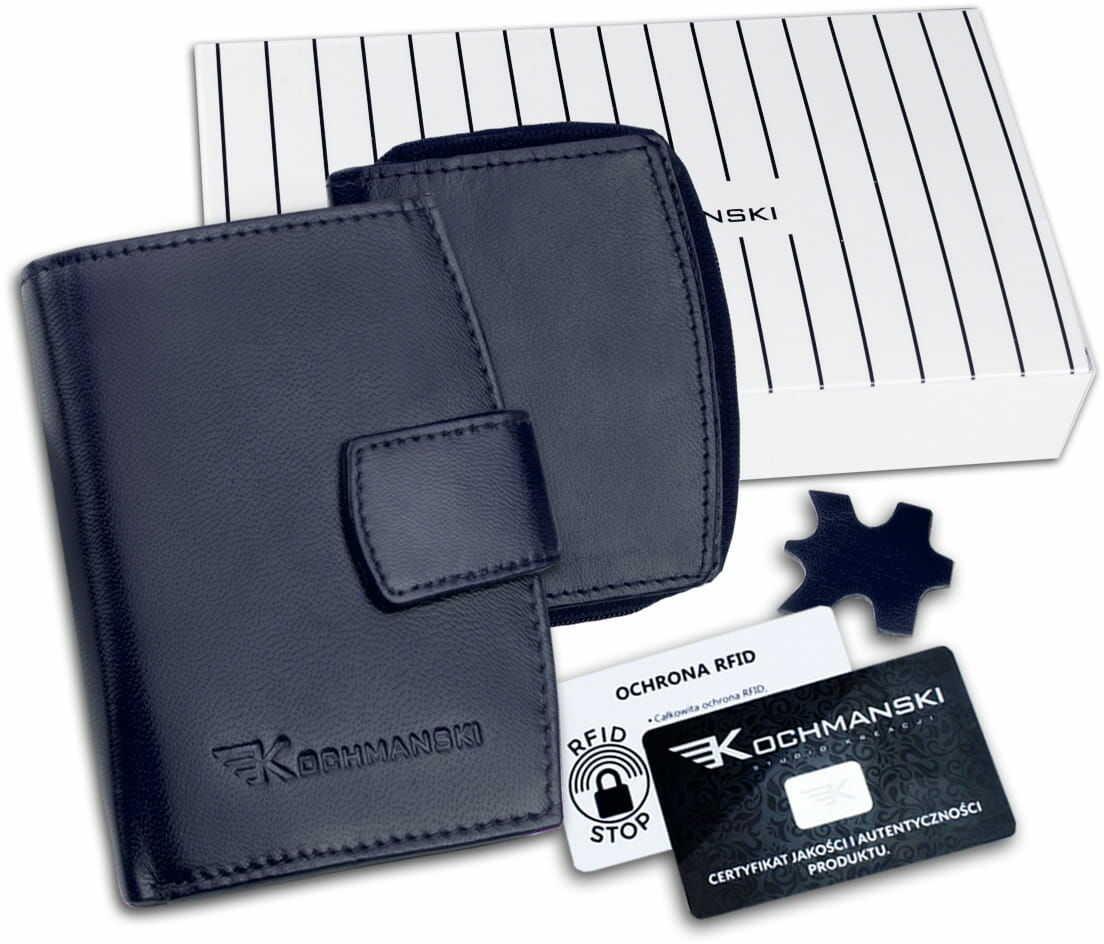 KOCHMANSKI portmonetka portfel damski skórzany mały 4341