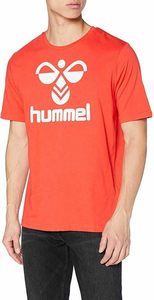 Hummel Męski Hummel Classic Logo Tee Tee_ss czerwony czerwony S