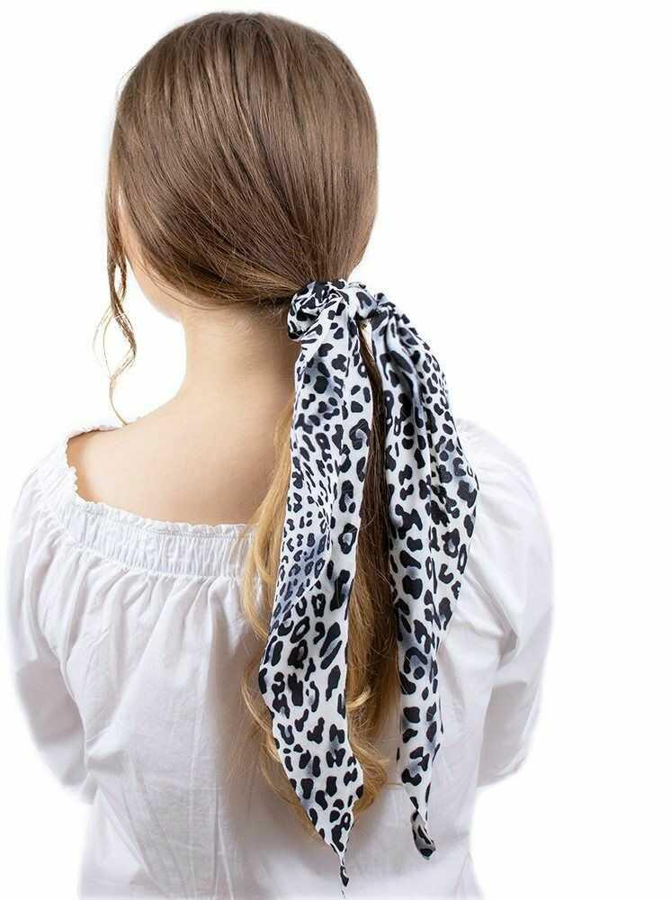 Gumka do włosów kokarda apaszka scrunchie panterka