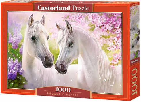 Puzzle Castor 1000 - Romantyczne konie, Romantic Horses