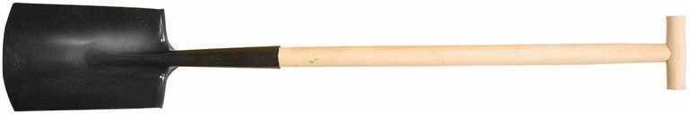 Szpadel prosty drewniany trzonek 15G002