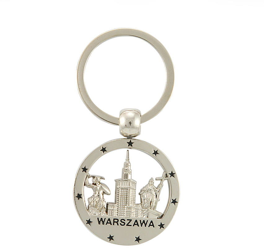 Brelok okrągły nikiel Warszawa