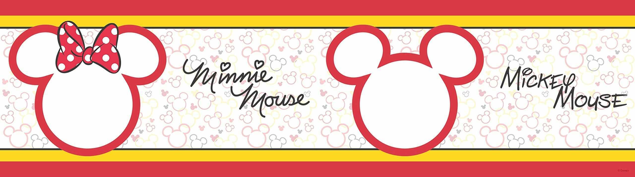 AG Design Disney Mickey Mouse naklejka na ścianę, samoprzylepna, wielokolorowa, 500 x 14 cm