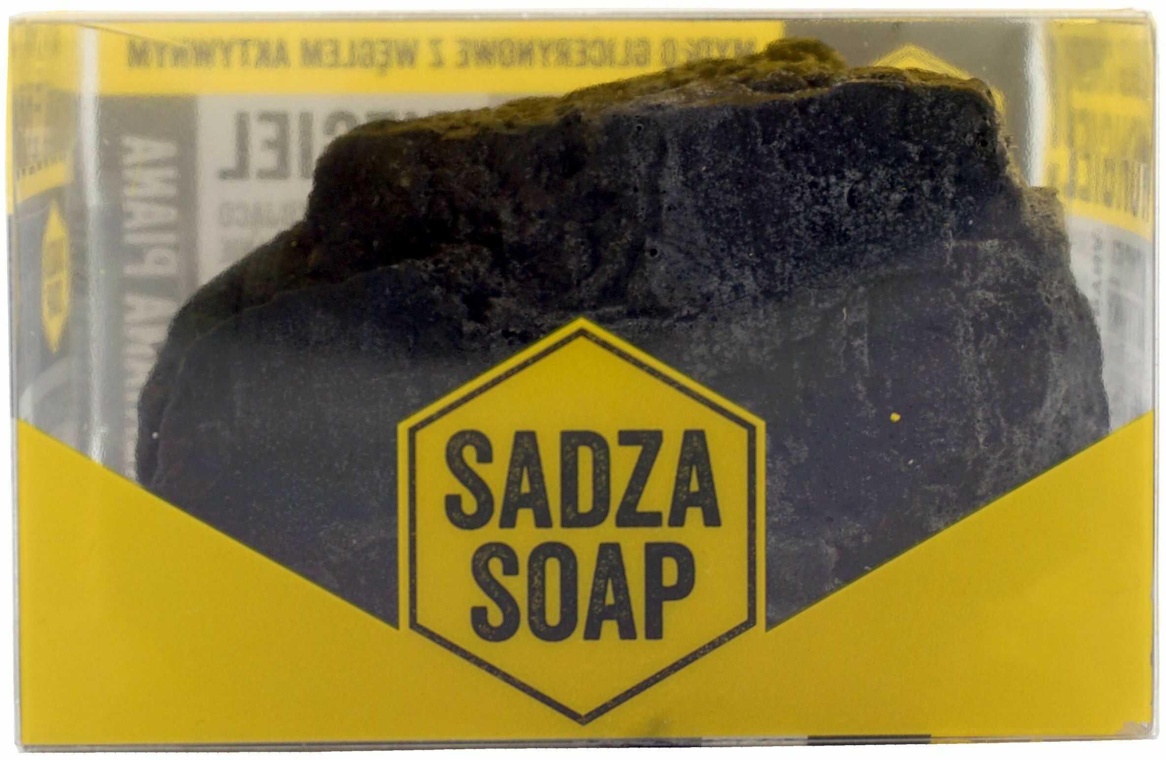 Mydło glicerynowe Sadza Soap - mydło w kształcie węgla - 130g - Sadza Soap