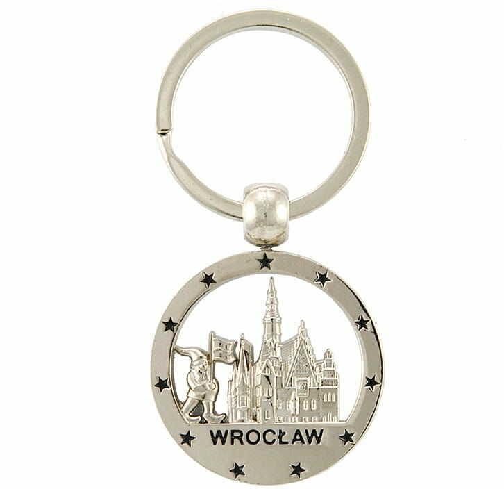 Brelok okrągły nikiel Wrocław