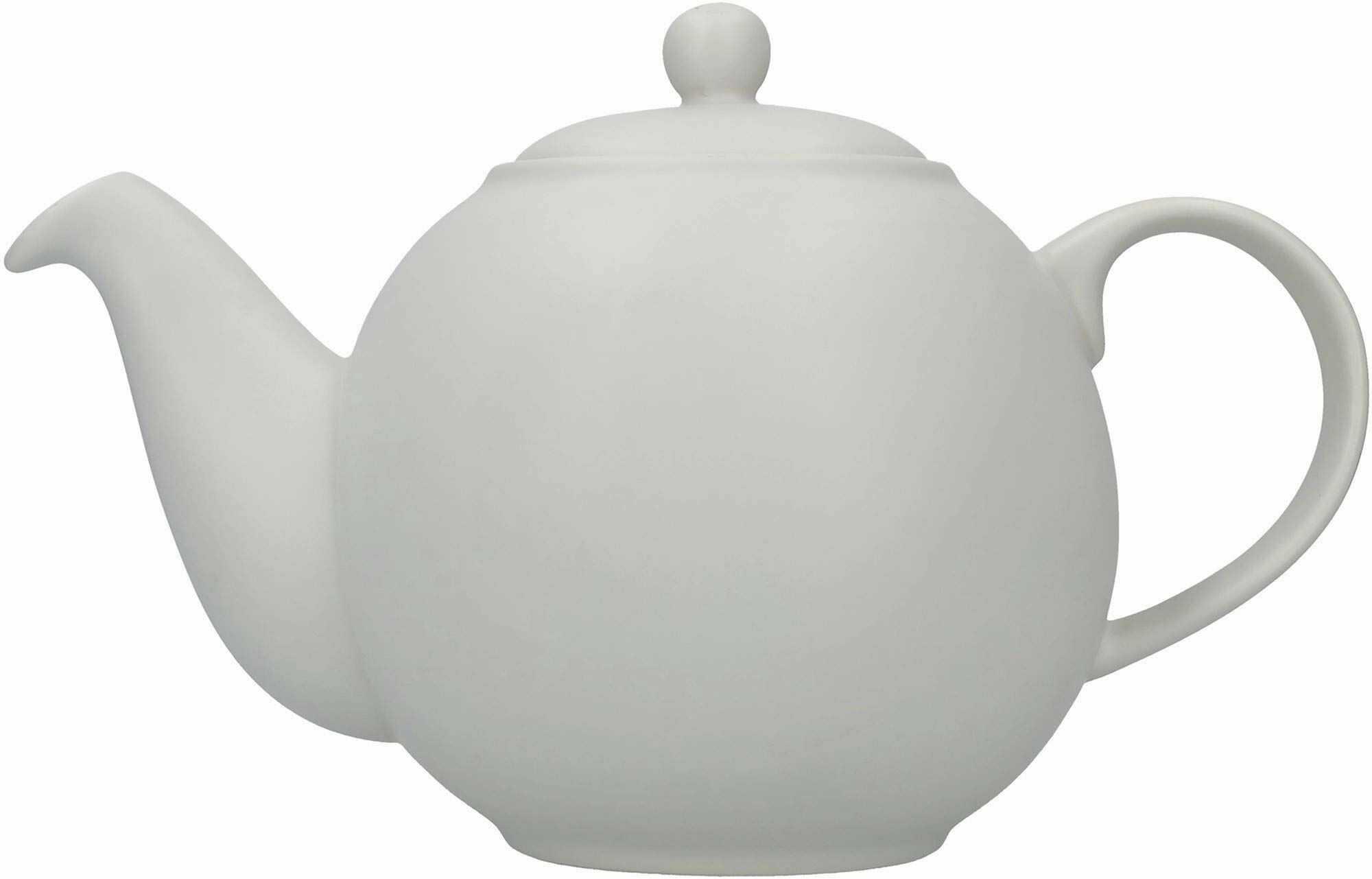 London Pottery Globe duży czajniczek z sitkiem w pudełku upominkowym, ceramiczny, skandynawski szary, 6 filiżanek (1,2 litra)