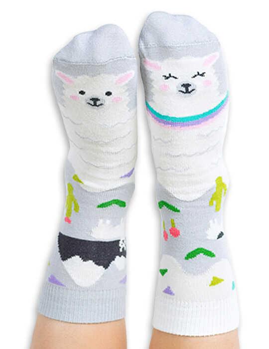 Skarpety kolorowe dla dzieci lama - Llamacita