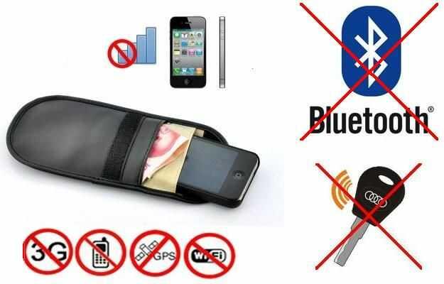 Pokrowiec na Tel. GSM/Smartfon, Kluczyk (chroni przed inwigilacją..), Blokuje Sygnał GSM,GPS,Wifi...