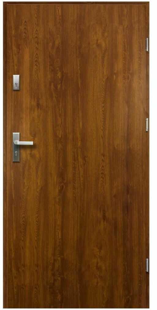 Drzwi zewnętrzne stalowe Artemida Złoty Dąb 90 Prawe