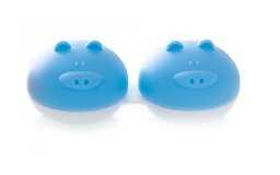 Pojemnik do soczewek Qcase - niebieska świnka