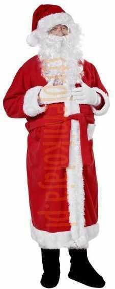 Strój płaszcz Mikołaja z polaru - komplet 2 elementy