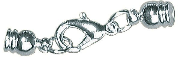 Rayher 2236222 zatyczka do biżuterii, 4 mm, SB-Btl 2 sztuki, srebrna