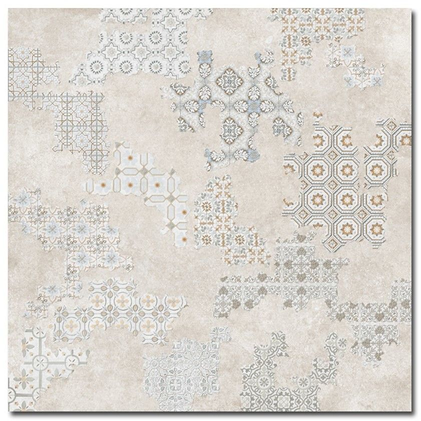 Deco Cover Taupe 60x60 patchwork