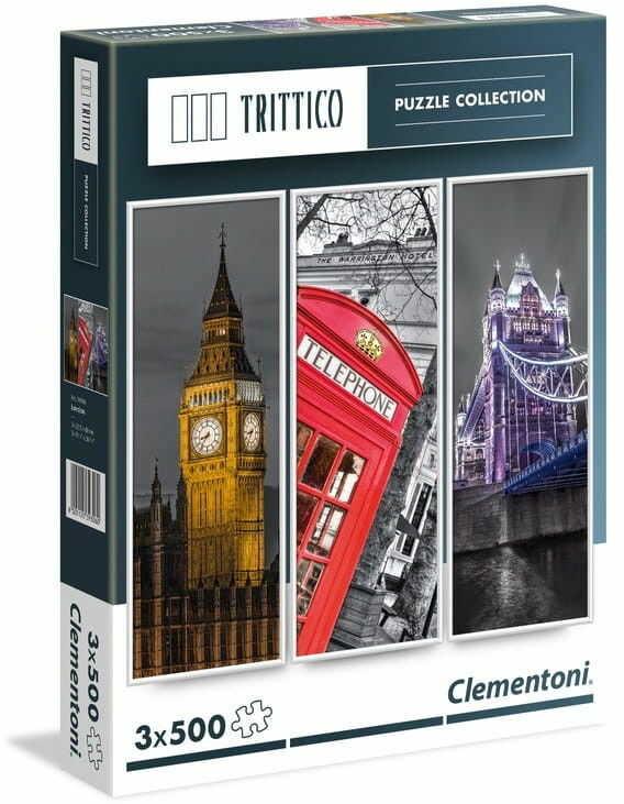 Puzzle Clementoni 3x500 - Tryptyk Londyn