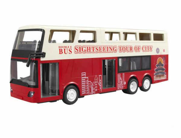 Autobus piętrowy 1:18, 2.4GHz, RTR - czerwony