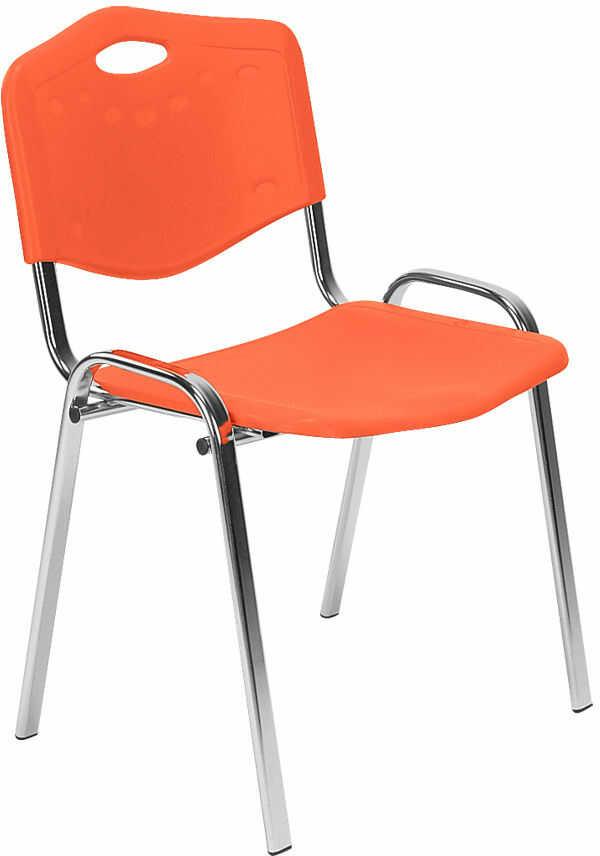 NOWY STYL Krzesło ISO plastik chrome