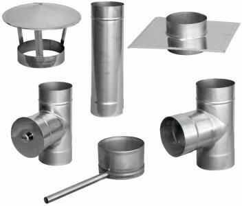 Jednościenna wkładka kominowa ze stali kwasoodpornej fi100/7mb