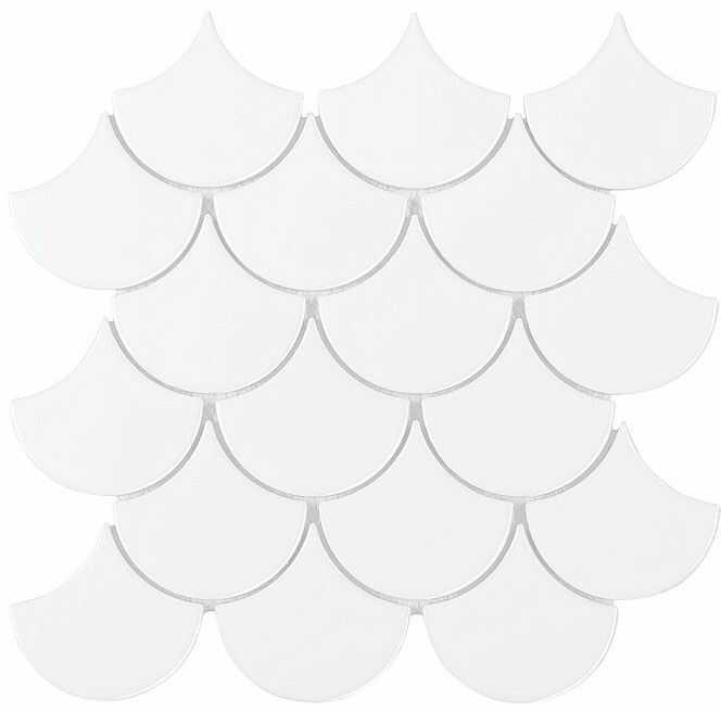 MINI FISH SCALE WHITE 88 24,7x30