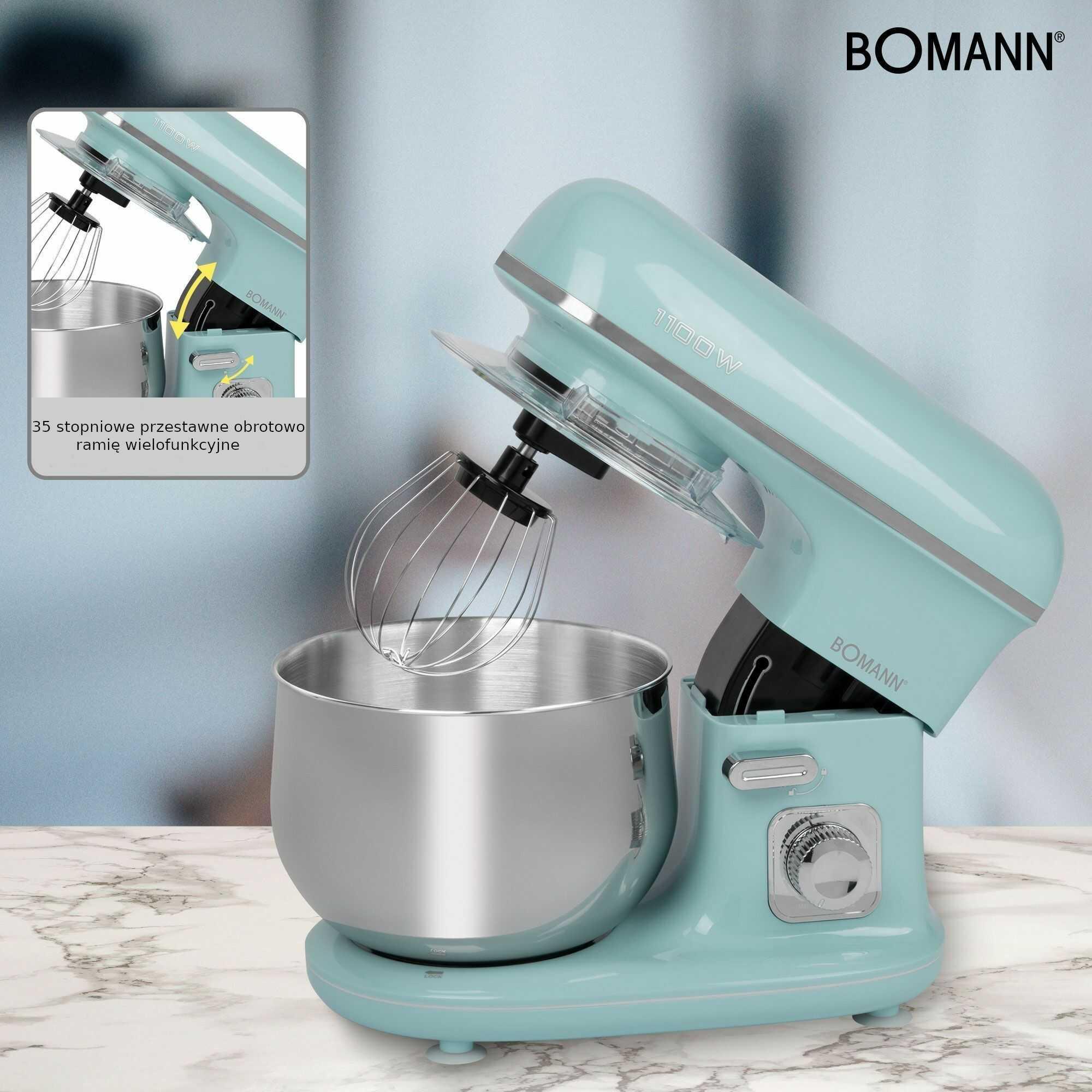 Robot kuchenny planetarny mikser Bomann KM 6030 Miętowo-Zielony