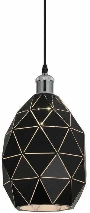 Lumina Deco Pestico nowoczesna czarno-chromowana lampa wisząca