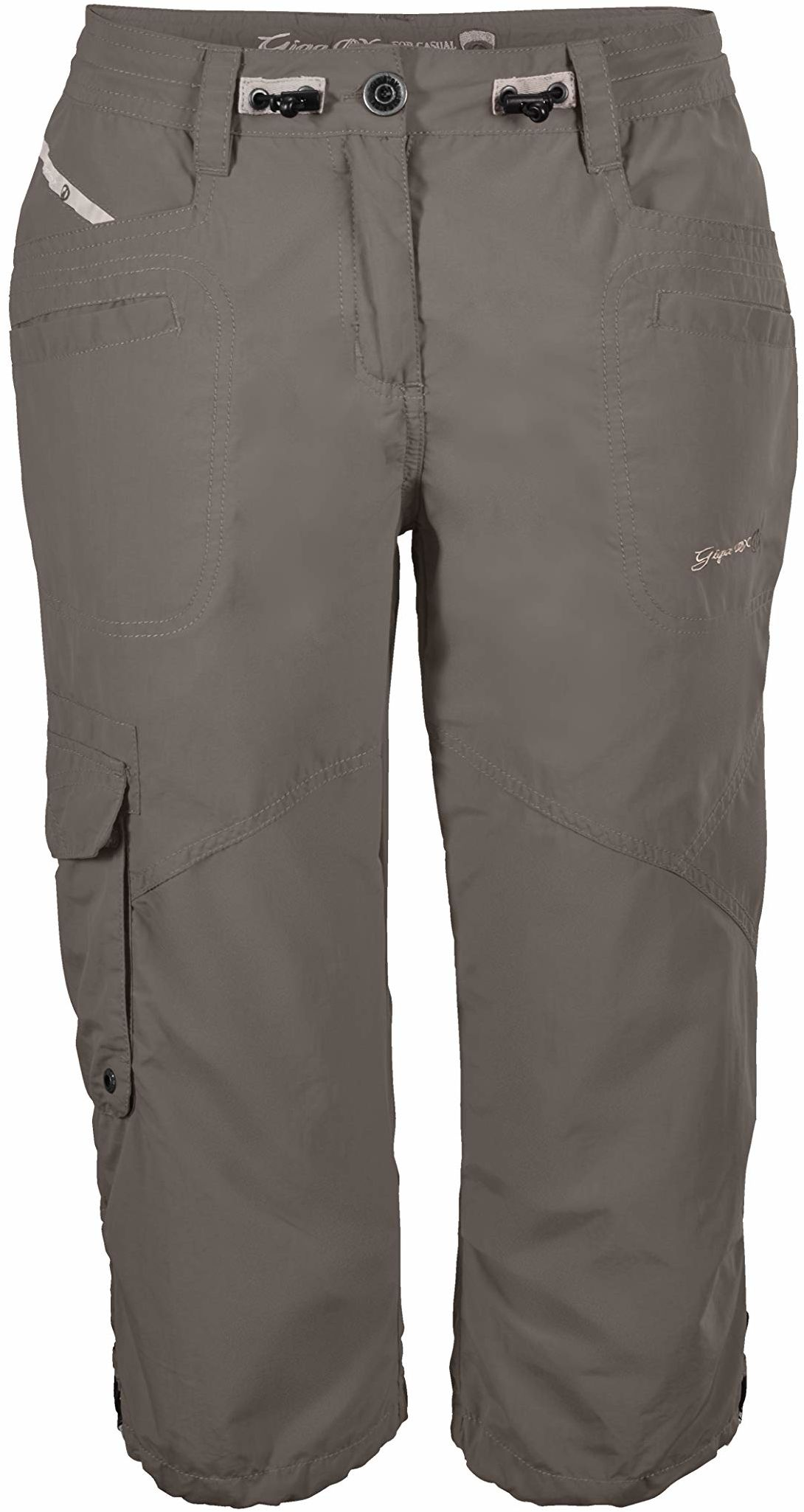 G.I.G.A. DX damskie spodnie typu Capri, 3/4 spodnie cargo na lato, regulowana szerokość w talii beżowy szampański 40