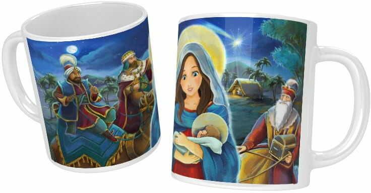 Kubek świąteczny Trzej Królowie, Matka Boża
