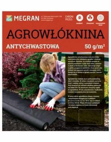 Agrowłóknina antychwastowa 50g/m2  czarna  3,2 x 10 m