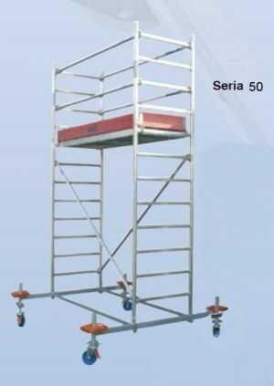 Rusztowanie jezdne seria 50, 2,5x1,5m Krause 12.4m robocza 745293