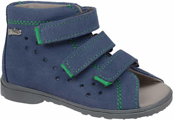 Sandałki Profilaktyczne Ortopedyczne Buty DAWID 1041 Niebieski GJ - Niebieski Szary Multikolor