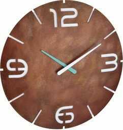 TFA Dostmann Contour Design zegar ścienny sterowany radiowo, duży, 60.3536.09, optyka rdzy