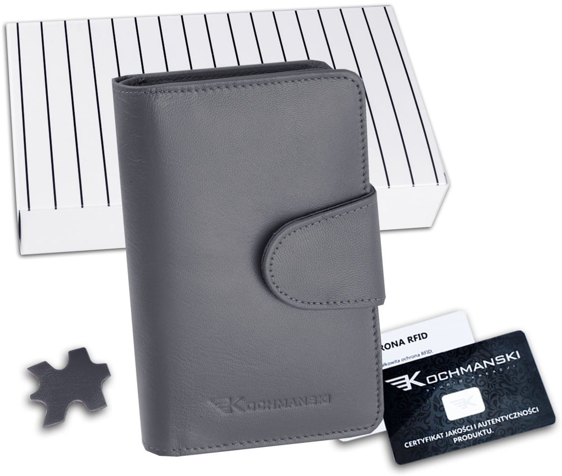 KOCHMANSKI portfel damski skórzany mały 4362