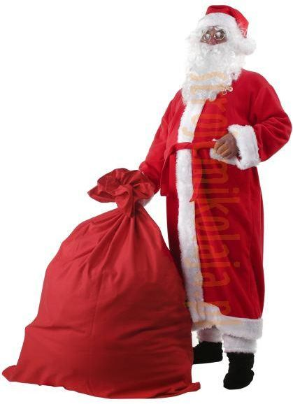 Strój płaszcz Mikołaja z polaru - komplet 9 elementów