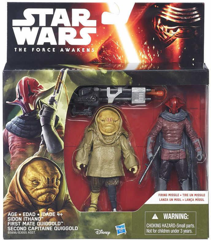 Star Wars - Epizod 7 Figurki 2 pack Sidon Ithano & First Mate Quiggold 10 cm B5896 B3955