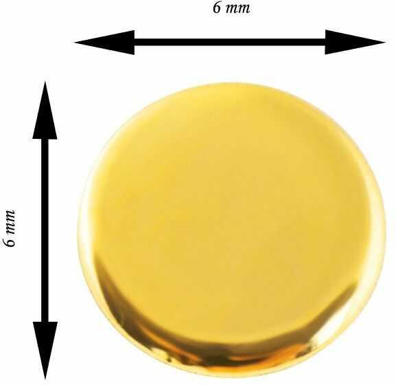 Złote kolczyki okrągłe blaszki sztyft bez zapięć złoto 585 - para